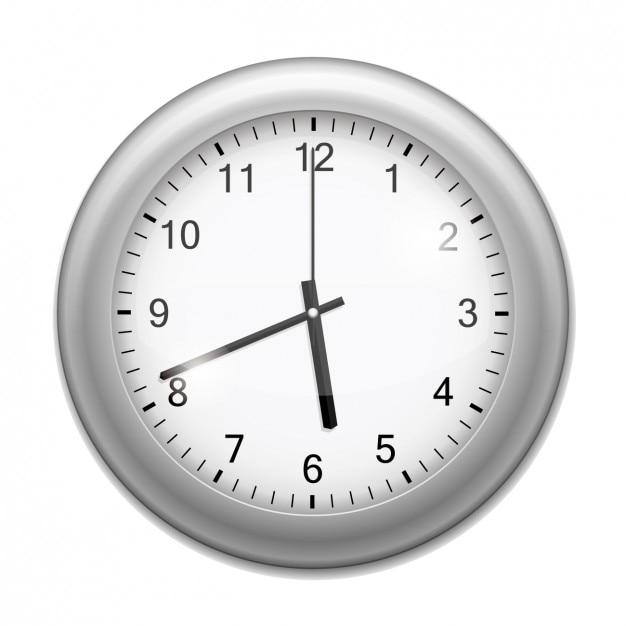 Realistic wall clock Free Vector