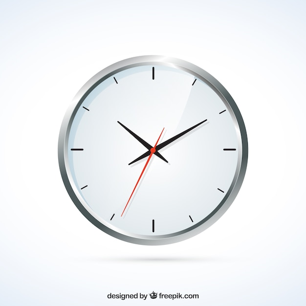 Realistic wall clock Free Vector