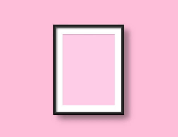 Realistic wall picture frame mockup for your design. painting modern blank artwork. Premium Vector
