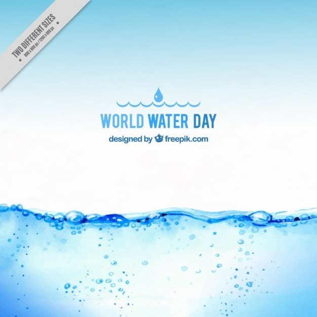 Realistic water background Free Vector