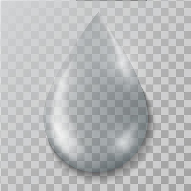 Realistic water  drop Premium Vector