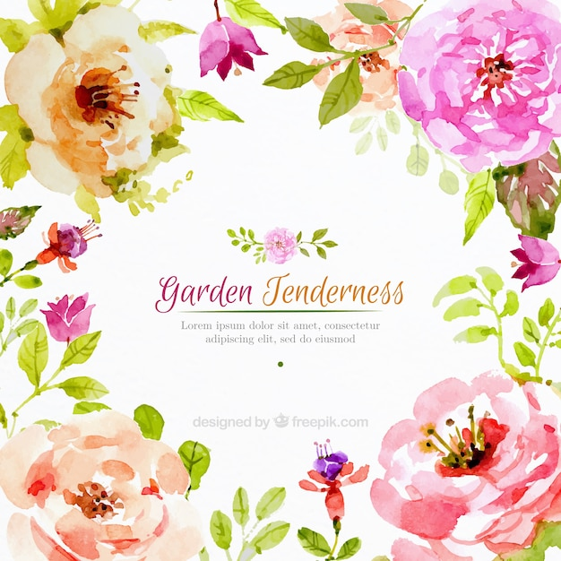 Realistic Watercolor Flowers Background_843535 on Whimsical Tree Clip Art Free