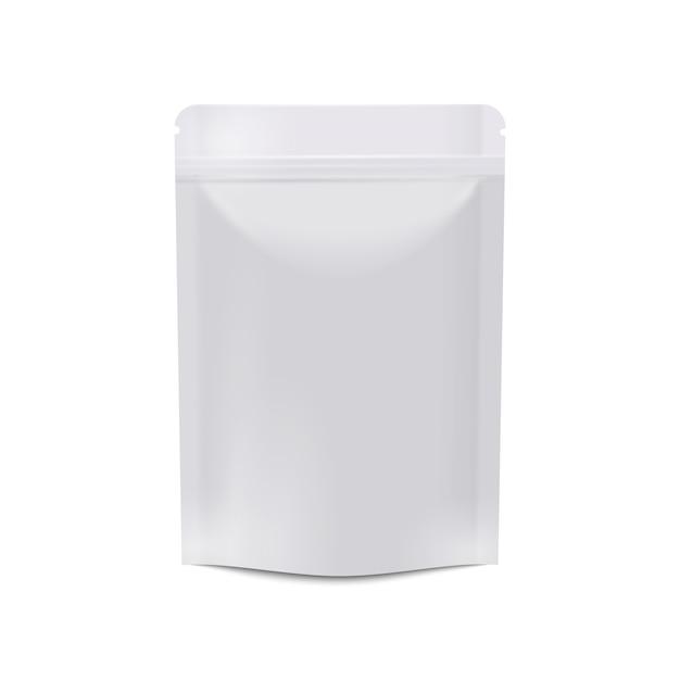 Realistic white blank food packaging Premium Vector