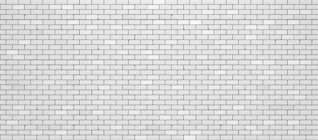 현실적인 흰색 벽돌 벽입니다. 프리미엄 벡터