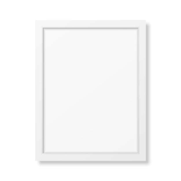 Realistic white frame a4 Premium Vector