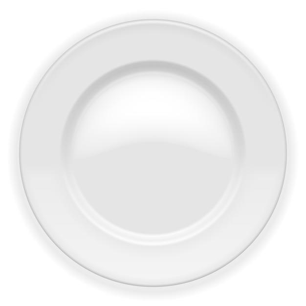 Реалистичная белая тарелка изолирована Бесплатные векторы
