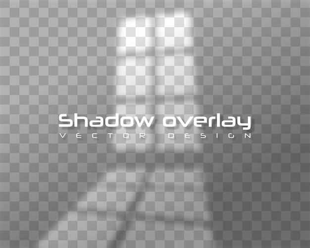 Realistic window light and shadow Premium Vector