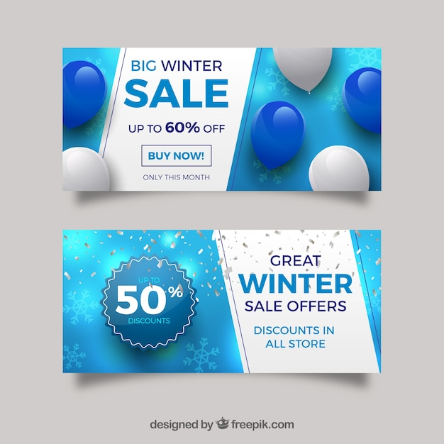 Winter Sale Banners 21st Banners