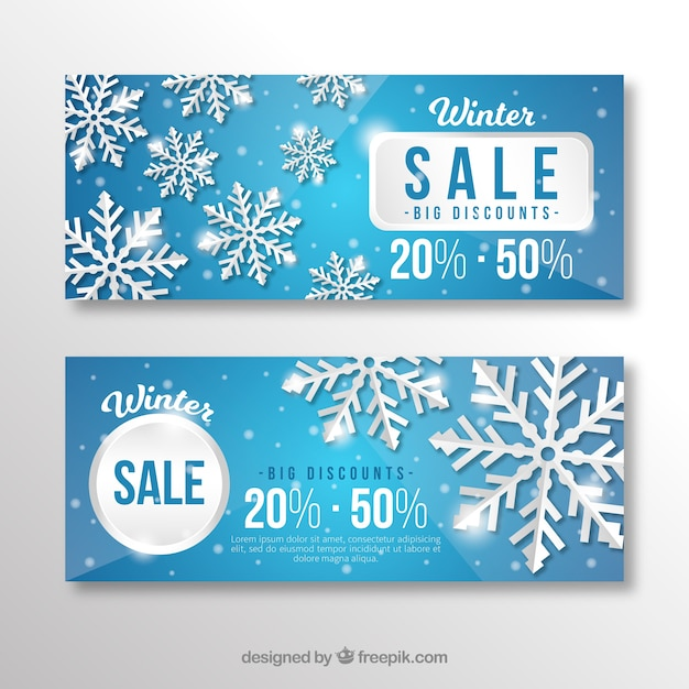 Winter Sale Banners Company Email Banners