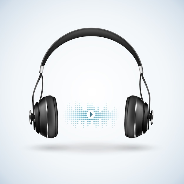 Realistic wireless earphones illustration Free Vector