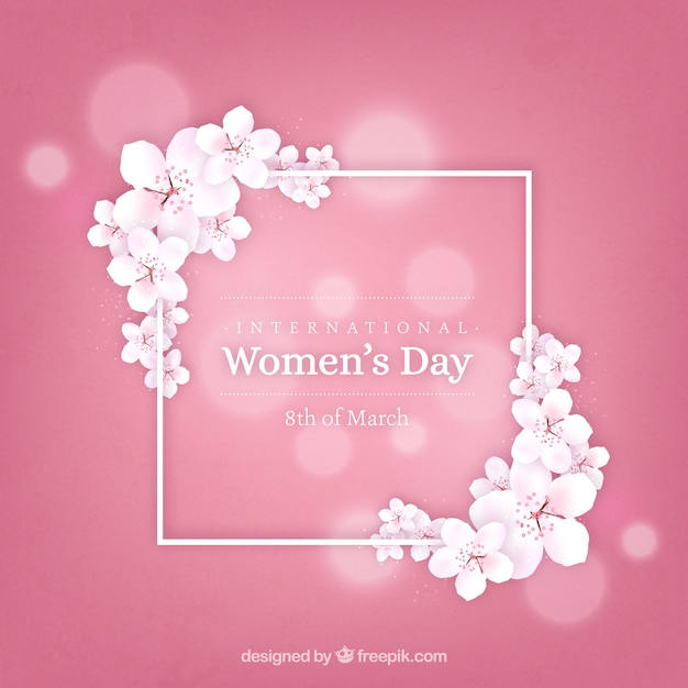 Realistic women's day background Free Vector