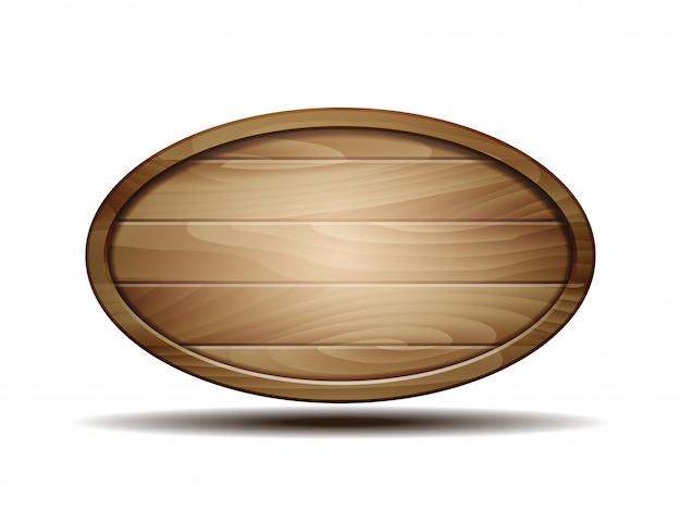 Realistic wooden signboard Premium Vector