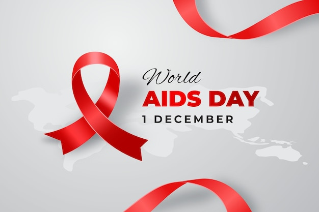Realistic world aids day Free Vector