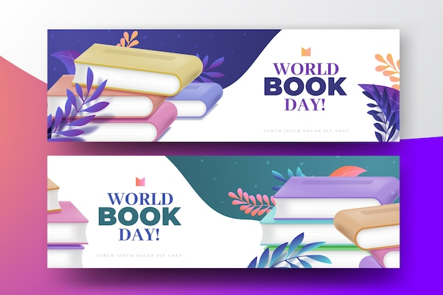 Realistic world book day Free Vector