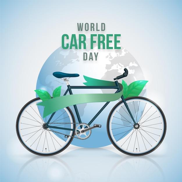 現実的な世界の車の無料日の背景 無料ベクター