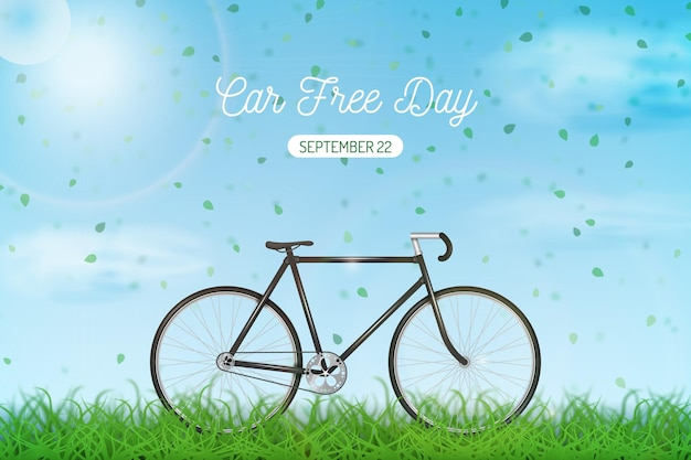 Realistic world car free day Free Vector