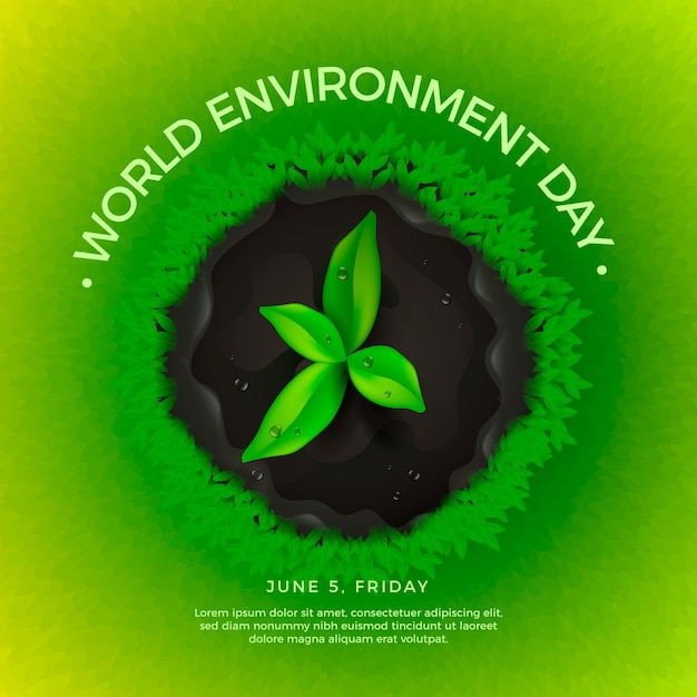 Realistic world environment day concept Free Vector
