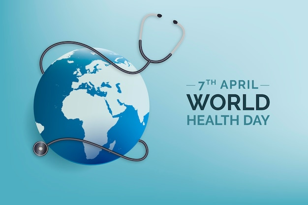 Realistic world health day illustration Free Vector
