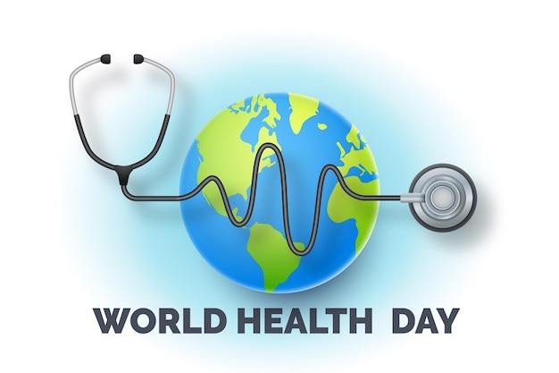 Illustrazione realistica della giornata mondiale della salute Vettore gratuito