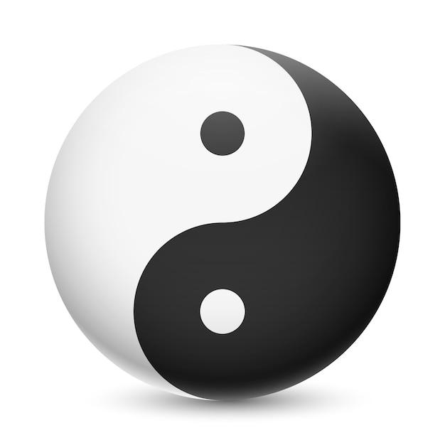 realistic yin yang illustration vector  premium download