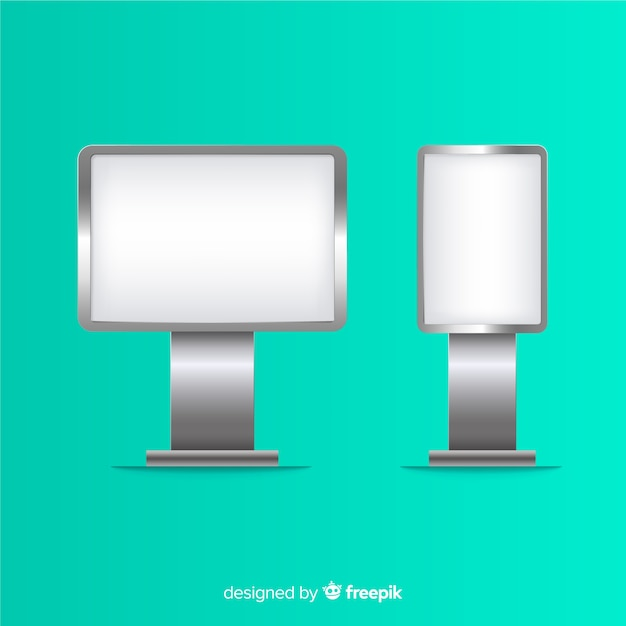 Realisticlight box billboard Free Vector