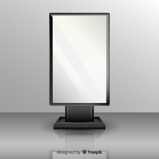 Realisticlight box billboard Free Vector