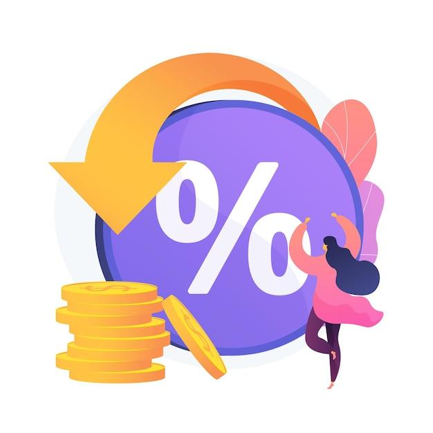 Rebate program. consumer benefit, selling discount, customer reward. online store, e shopping, internet shop. money savings, cumulative bonuses. vector isolated concept metaphor illustration Free Vector