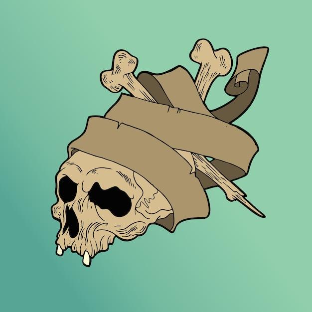 Rebel skull Premium Vector