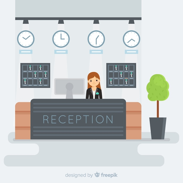 Reception concept in flat design Free Vector