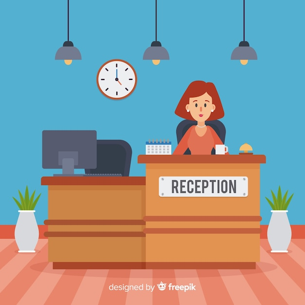 Reception concept in flat style Free Vector