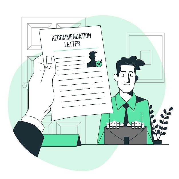 Recommendation letter concept illustration Free Vector