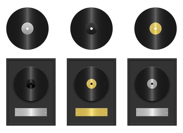 Иллюстрация диска записи, изолированные на белом фоне Premium векторы