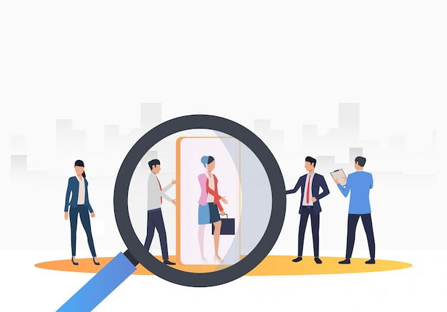 Recruitment agency searching for job candidates Free Vector