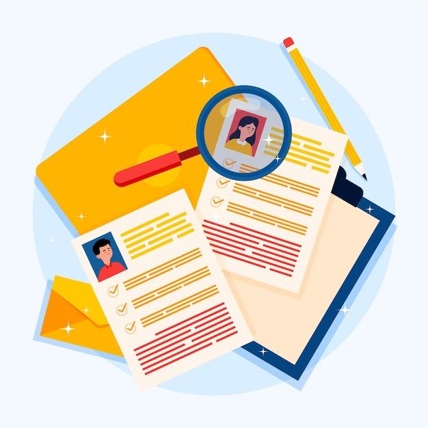 Recruitment concept illustration Free Vector