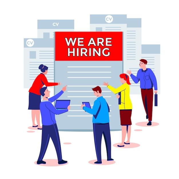 Recruitment concept Free Vector