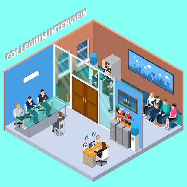 Recruitment hiring hr management Free Vector