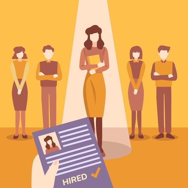 Recruitment illustration concept Free Vector
