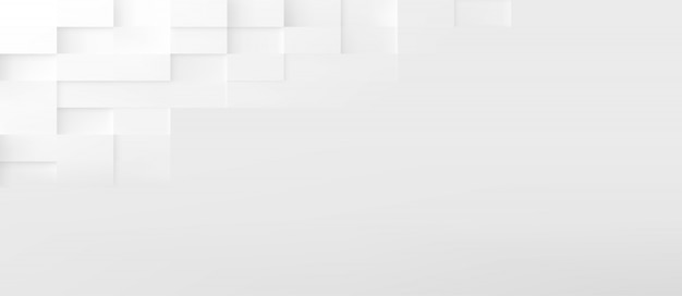 Rectangle shapes abstract technology background. 3d geometric minimalistic design Premium Vector