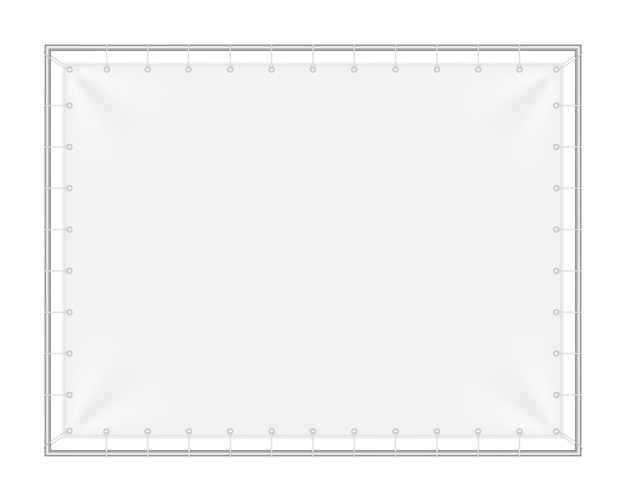 Rectangular background with iron frame. Premium Vector