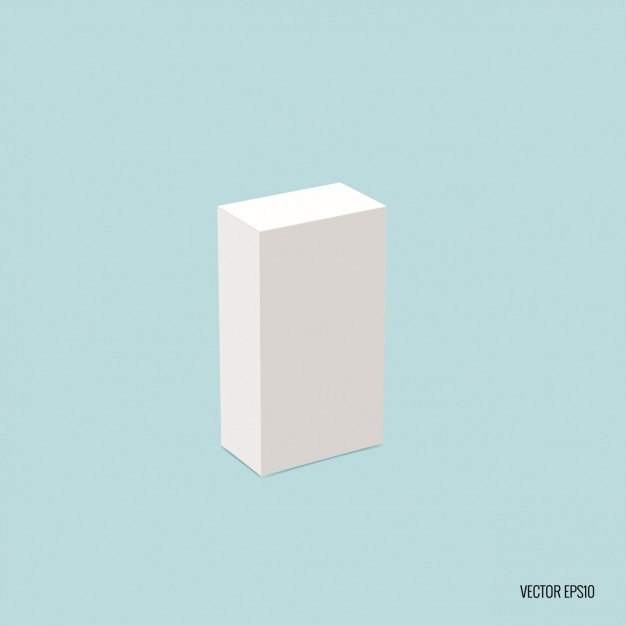 Rectangular blank package Free Vector