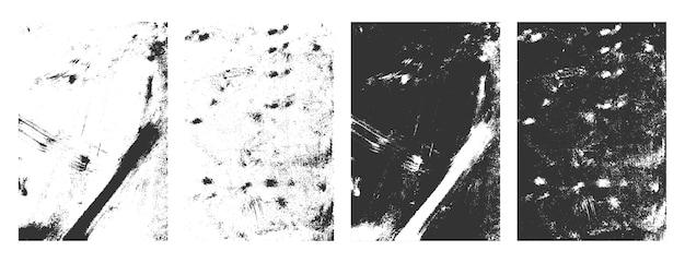 Rettangolare grunge texture incornicia set di sfondo effetto angosciato Vettore gratuito