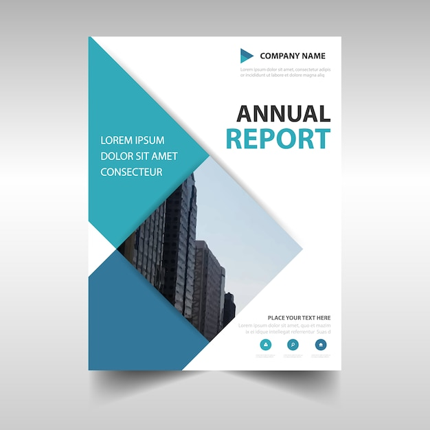 Rectangular Professional Annual Report Template Vector | Free Download