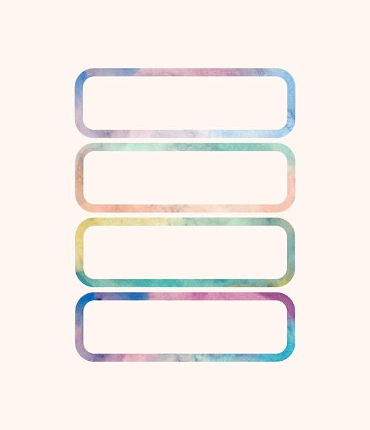 Rectangular shaped watercolor backgrounds vector Free Vector