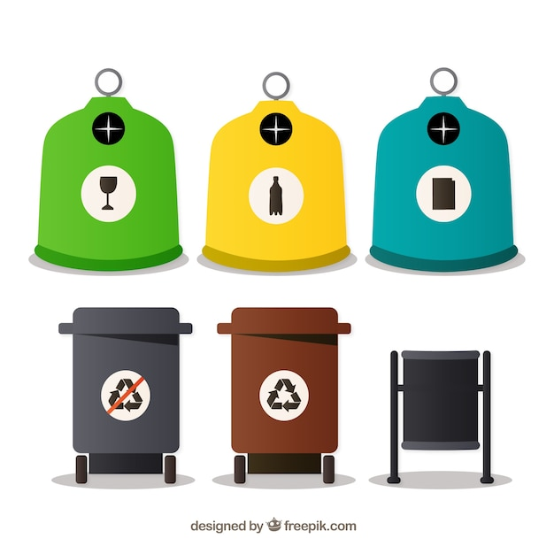 Recycle bins Free Vector