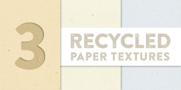 Recycled paper textures collection