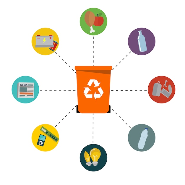 Recycling design Free Vector