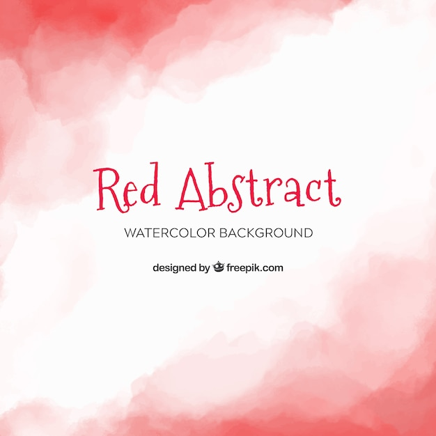 Red abstract background in watercolor style Free Vector