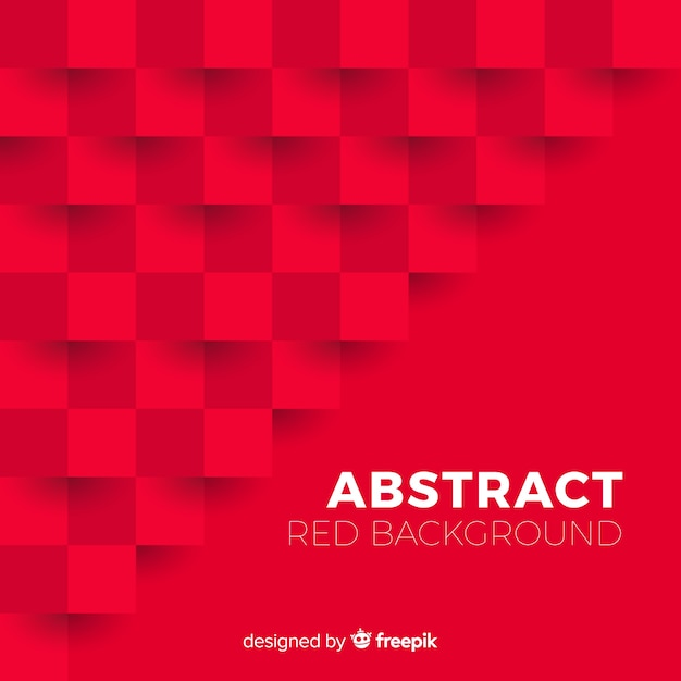 Red abstract background with elegant style Free Vector