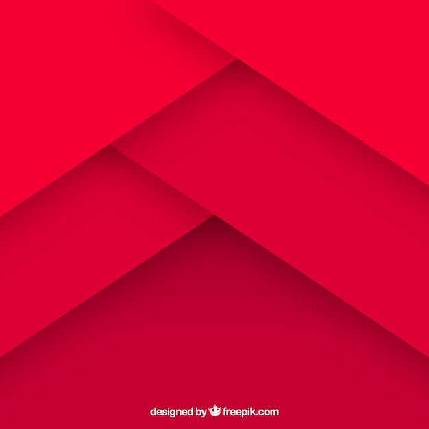 Red abstract background with flat design Free Vector