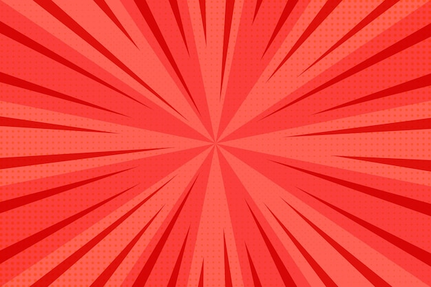 Red abstract halftone background Free Vector